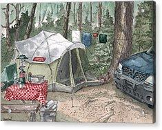 Campsite Acrylic Print by Sean Seal