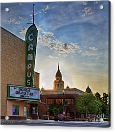 Campus At Sunrise Acrylic Print by Gary Holmes