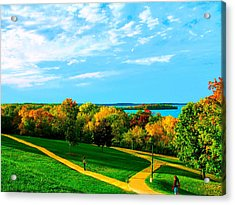 Acrylic Print featuring the photograph Campus Fall Colors by Zafer Gurel