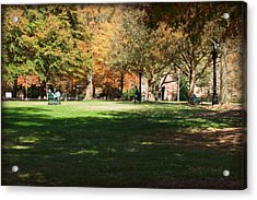 Campus Study Time - Davidson College Acrylic Print by Paulette B Wright
