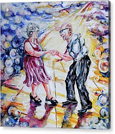 Can I Have This Dance For The Rest Of My Life Acrylic Print by Margaret Donat