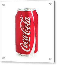 Can Of Coca Cola Acrylic Print by Science Photo Library