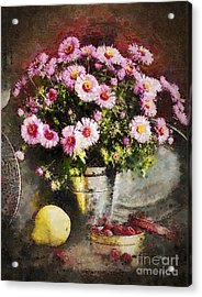 Can Of Raspberries Acrylic Print by Mo T