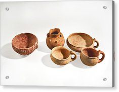 Canaanite Terracotta Bowls Acrylic Print by Science Photo Library