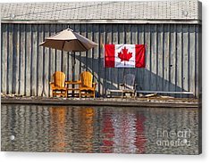 Acrylic Print featuring the photograph Canada Day In Muskoka by Les Palenik