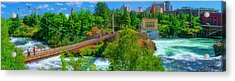Canada Island Bridge Acrylic Print by Dan Quam