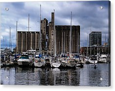 Canada Malting Silos Harbourfront Acrylic Print by Nicky Jameson
