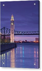 Canada, Montreal, Old Port Clock Tower Acrylic Print