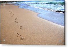 Canada, Nova Scotia, Footprints Acrylic Print