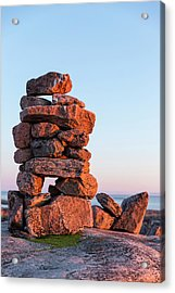 Canada, Nunavut, Territory, Setting Sun Acrylic Print