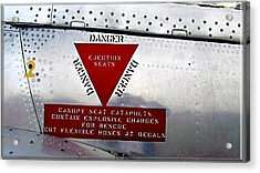 Canadair Ct-114 Tutor Danger  Ejection Seats Acrylic Print
