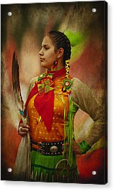 Canadian Aboriginal Woman Acrylic Print