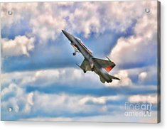 Canadian Cf18 Hornet Taking Flight  Acrylic Print by Cathy  Beharriell