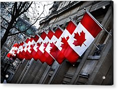 Canadian Embassy London Acrylic Print by Mark Rogan
