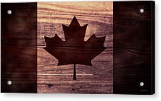 Canadian Flag I Acrylic Print by April Moen