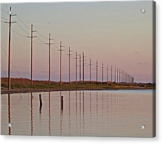 Canadian Hole Outer Banks At Sunset Acrylic Print by Patricia Januszkiewicz