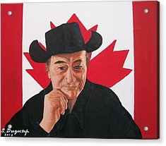Canadian Icon Stompin' Tom Conners  Acrylic Print by Sharon Duguay