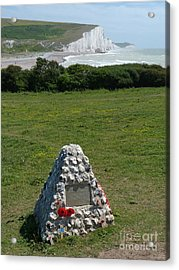 Canadian Memorial - Cuckmere Acrylic Print by Phil Banks