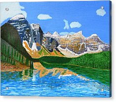 Canadian Mountains And Lake  Acrylic Print