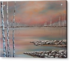 Canadian Northern Reflections Acrylic Print by Beverly Livingstone