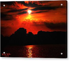 Canadian Sunrise Acrylic Print by Michael Rucker