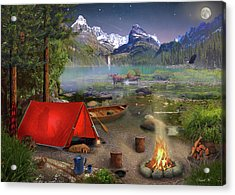 Acrylic Print featuring the drawing Canadian Wilderness Trip by David M ( Maclean )