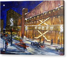 Canadiens Hockey At Montreal Forum Acrylic Print by Brent Arlitt