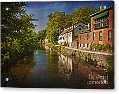Canal Along The Porkyard Acrylic Print