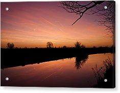 Canal At Dawn Acrylic Print