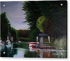 Canal At Dawn Acrylic Print by Ronald Tseng