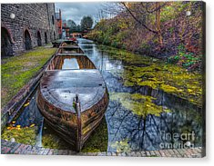 Canal Boat Acrylic Print by Adrian Evans