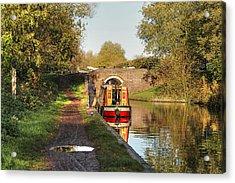 Canal Boat At Compton Lock Acrylic Print