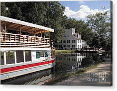 Canal Boat On The C And O Canal At Great Falls Tavern Acrylic Print