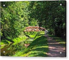 Canal Bridge Acrylic Print by David Nichols
