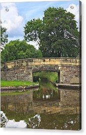 Canal Bridge Acrylic Print by Jane McIlroy