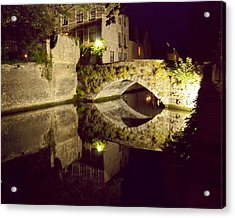 Canal Bridge Reflection Acrylic Print