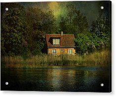 Canal Cottage Acrylic Print