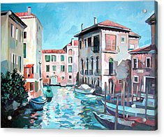 Canal Acrylic Print by Filip Mihail