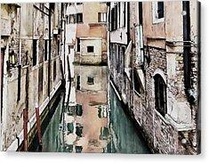 Acrylic Print featuring the digital art Canal In Venice by Kai Saarto