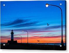 Canal Park Sunrise Acrylic Print by Mark Goodman
