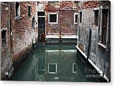 Canal Reflections Acrylic Print by John Rizzuto