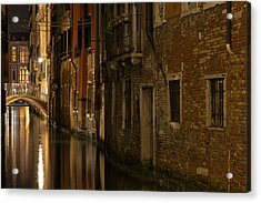 Canal Reflections Acrylic Print by Marion Galt