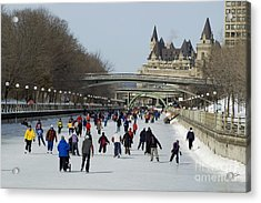 Acrylic Print featuring the photograph Canal Skate II by Jessie Parker