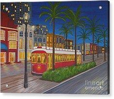 Canal Street Car Line Acrylic Print