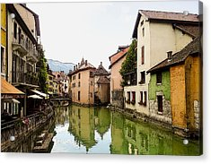 Canal View Number 1 Annecy France Acrylic Print