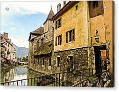 Canal View Number 2 Annecy France Acrylic Print