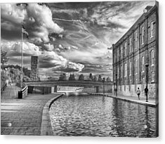 Acrylic Print featuring the photograph Canal Walk by Howard Salmon