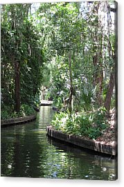Canal Winter Park Chain Of Lakes Acrylic Print