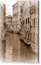 Canale Di Venezia Acrylic Print by Bishopston Fine Art