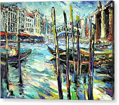 Canale Grande 1 Acrylic Print by Zofia  Kijak